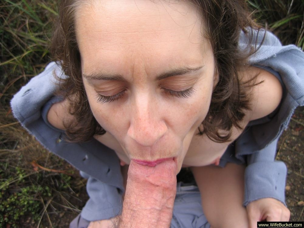 Wife outdoor blowjob