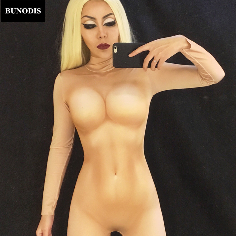 Naked women in hot costumes