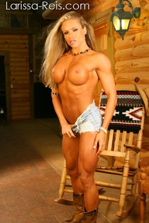 Naked female muscle beauties