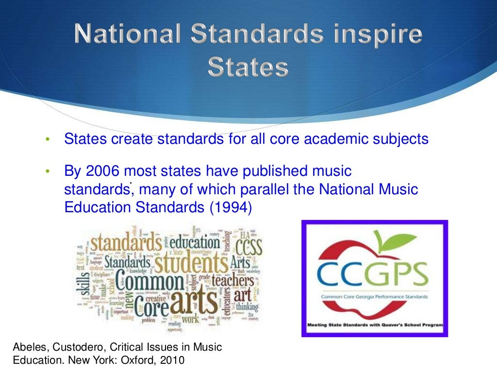 New york state standards music education